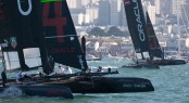 The two ORACLE TEAM USA crews