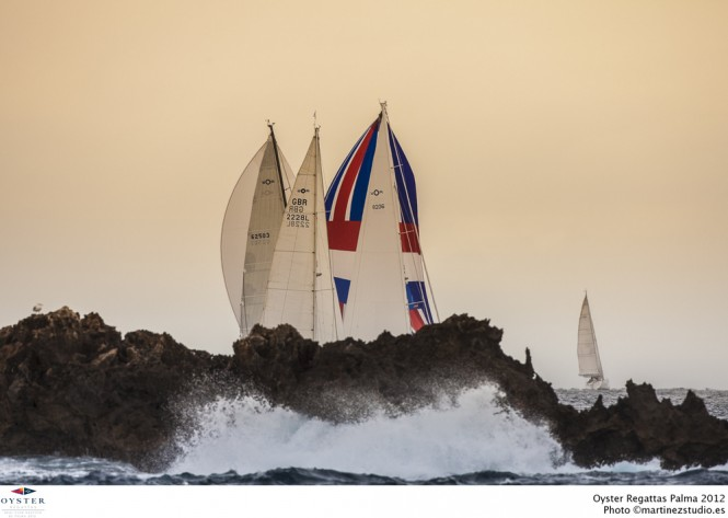 Oyster Regattas Palma 2012 after sunset - Photo by martinezstudio.es