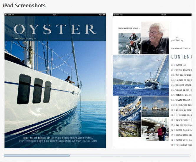 Oyster Yachts launches new magazine app