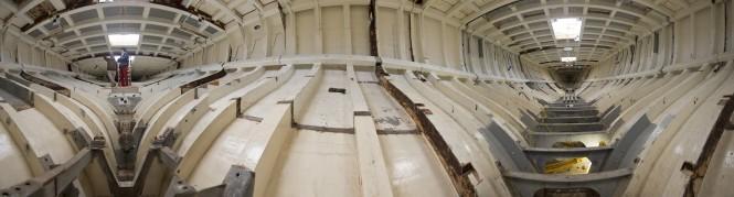 Panorma of yacht Britannia's refit © K1 Britannia 2012
