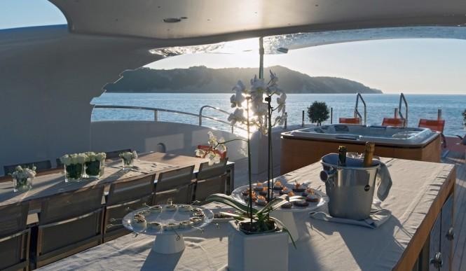 Papi Du Papi yacht - Sundeck -Photo Credits @ Marc Paris