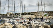 Post race dockside ambiance at the Royal Malta Yacht Club - Photo by Rolex Kurt Arrigo
