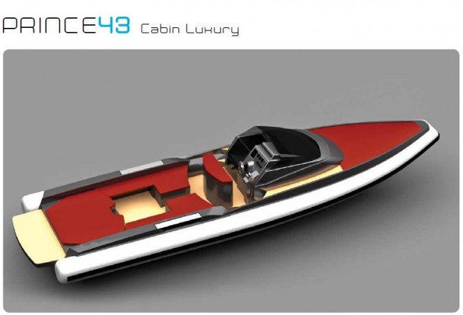Prince 43' Cabin Luxury yacht tender by Nuova Jolly Marine