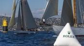 Sailing Yacht TUIGA at finish line - Photo By- Rolex: Carlo Borlenghi