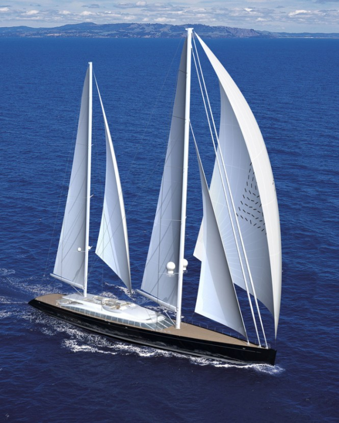 Sailing Yacht Vertigo as designed by Philippe Briand and launched by Alloy Yachts in 2010