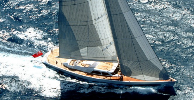Sailing yacht Unfurled - view from above