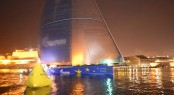 Superyacht Esimit Europa 2 claims line honours at the Rolex Middle Sea Race - Photo by Rolex Kurt Arrigo