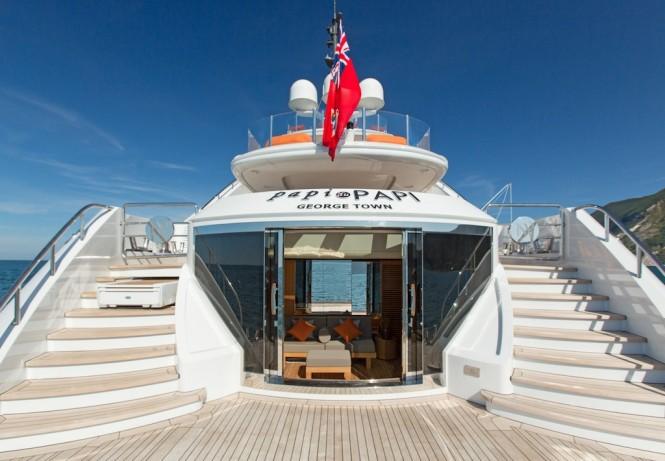 Superyacht Papi Du Papi - Beach deck - Photo Credits @ Marc Paris