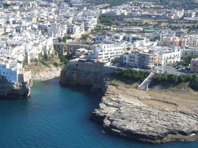 The cliff-top city of Polignano a Mare