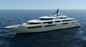 The delegation stepped on board the 80m motor yacht CRN 129 with launch in December