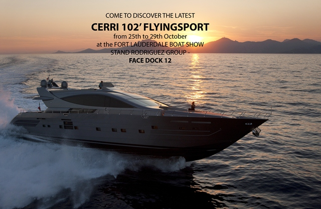 The newest luxury motor yacht Cerri 102' Flyingsport by Cerri-Gruppo Baglietto