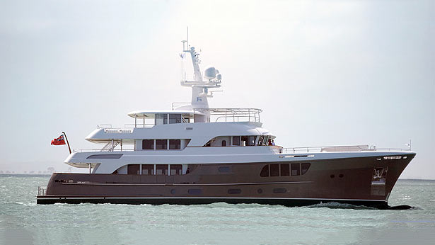 The newly launched AY44 superyacht Cary Ali by Alloy Yachts