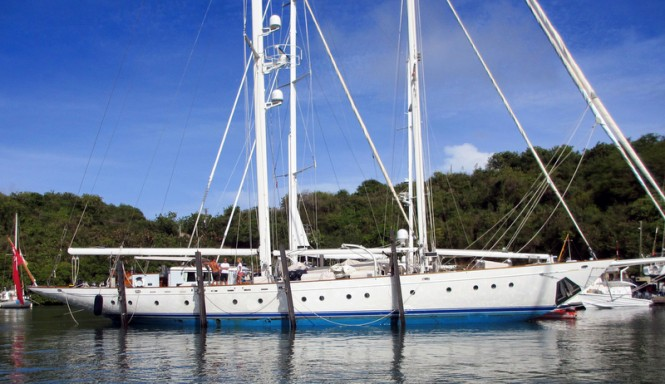 The newly refitted 38-metre Jongert sailing yacht Gloria