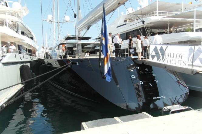 The spectacular Vertigo superyacht at the 2012 MYS