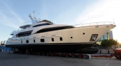 Tradition 105&#039; superyacht Serenity by Benetti at launch