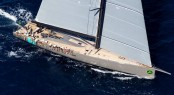 100ft WallyCento superyacht Hamilton competing in Porto Cervo - Photo credit YCO