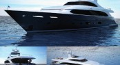 140ft Erdevicki superyacht design promoted by Burger Boats at the 2012 FLIBS