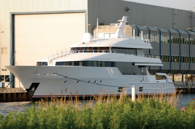 40m Lurssen superyacht Be Mine (ex Leonora) refitted by Royal Huisman's Huisfit