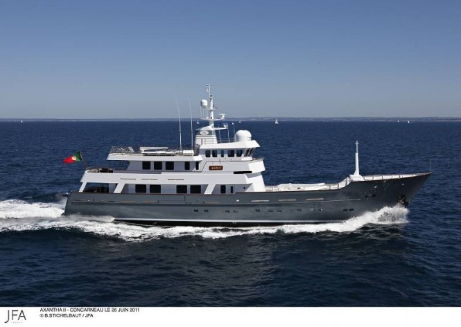 43m JFA superyacht Axantha II - Photo credit: B. Stichelbaut/JFA
