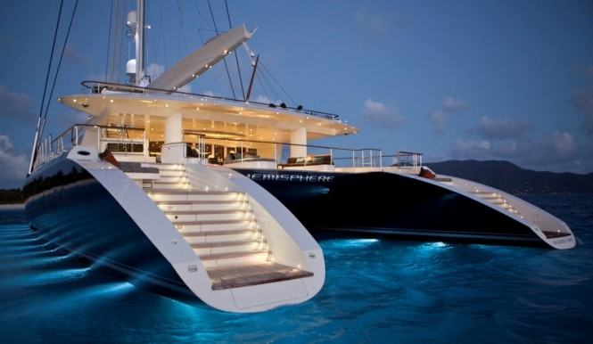 44m sailing yacht Hemisphere featuring blinds and light management solutions by Oceanair
