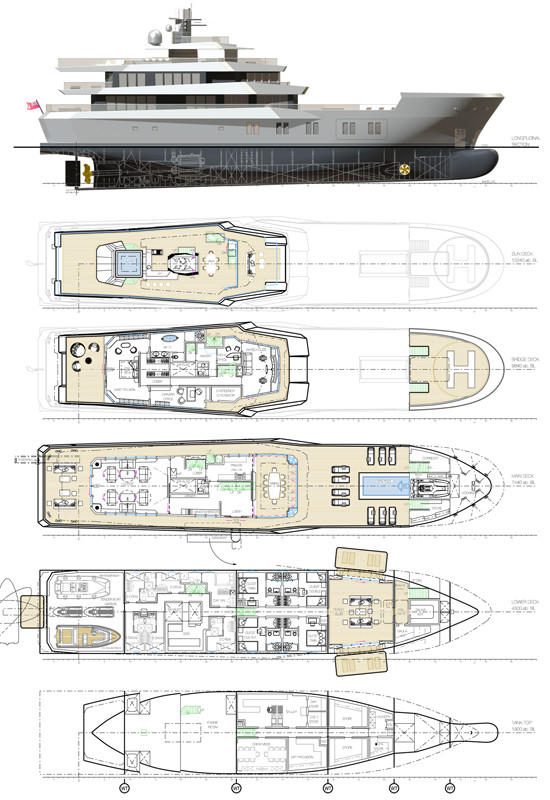 Showboats design awards 2012 luxury yacht charter for Motor pool floor plan