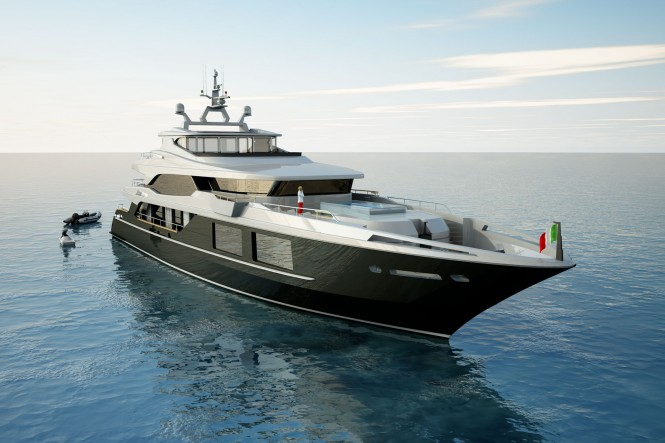 54m Luxury yacht designed by Luca Dini for Mondo Marine - Currently under construction