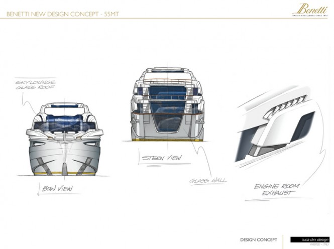 55m Luca Dini Superyacht Project - Design Concept