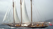 55m sailing yacht Shenandoah of Sark at the start of the race - Photo credit Juan Ruiz