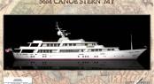 56m Rossinavi Canoe Stern Motor Yacht Concept designed by Evan K Marshall