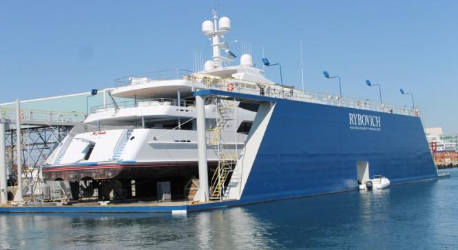 57m Trinity superyacht Mi Sueno at Rybovich