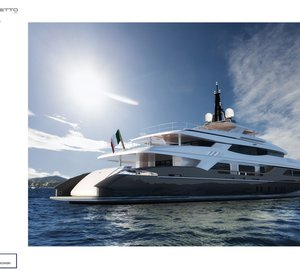 Francesco Paszkowski designed 58m Baglietto displacement yacht project presented at the 2012 FLIBS