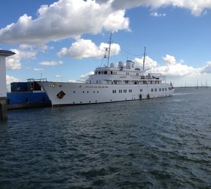Solent Refit works on the 58m charter yacht LADY K II