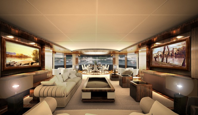 67m luxury yacht Cbi 675 project - Interior