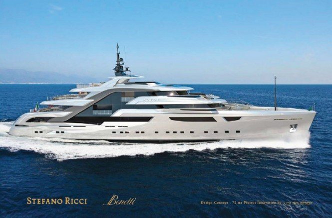 72m Luca Dini and Stefano Ricci Megayacht Concept for Benetti Innovation Design Project
