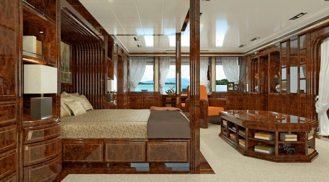 72m Luca Dini and Stefano Ricci Yacht - Owner's Suite