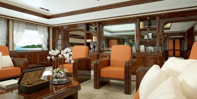 72m Luca Dini and Stefano Ricci luxury yacht concept - Main Saloon