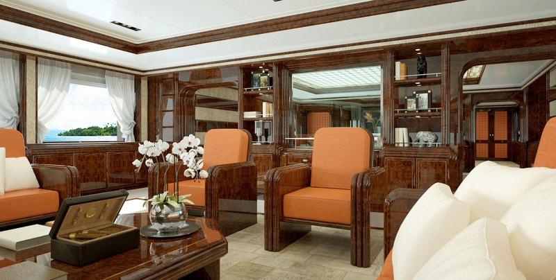 72m Luca Dini And Stefano Ricci Luxury Yacht Concept   Main Saloon