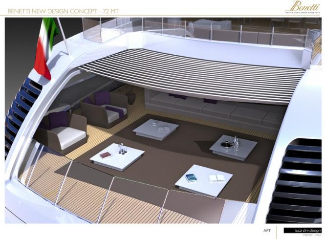 72m Luca Dini superyacht concept - Aft