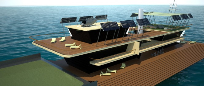 80m megayacht Nemus Dianae concept