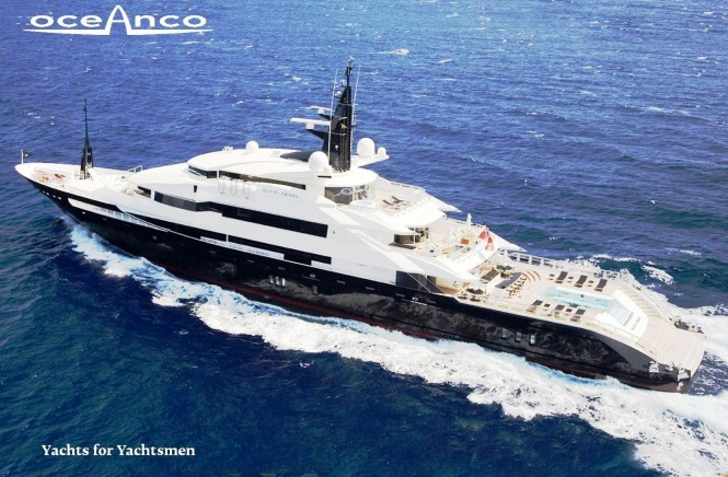82m Oceanco luxury charter yacht ALFA NERO awarded ISS award in 2010
