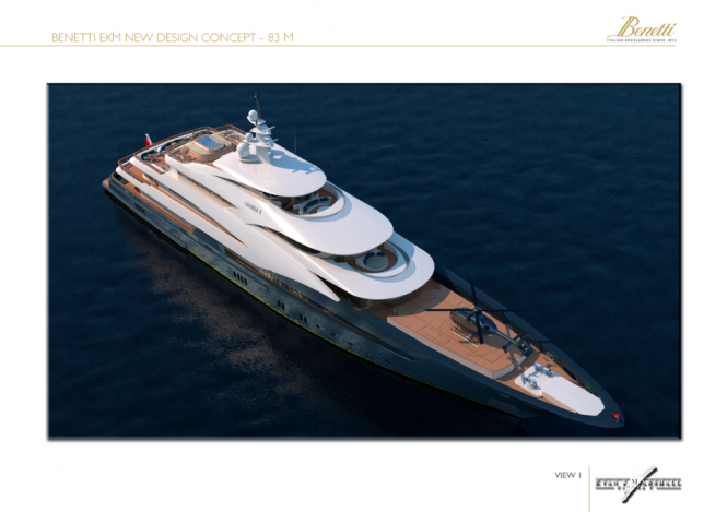 83m Evan K Marshall Luxury Yacht Concept for the Benetti Design Innovation Project