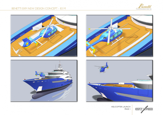 83m Evan K Marshall MotorYacht Concept for the Benetti Design Innovation Project