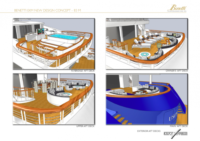 83m Evan K Marshall Superyacht Concept for the Benetti Design Innovation Project