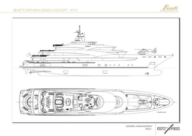 83m Evan K Marshall Yacht Concept for the Benetti Design Innovation Project