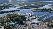 Aerial view of Sanctuary Cove Boat Show