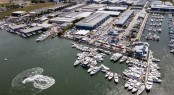 An impressive site from the air the 2012 Expo featured over 500 boats on display