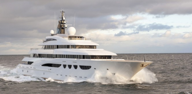 Another beautiful 88-metre vessel just delivered by Lurssen - superyacht Quattroelle Photo by Klaus Jordan