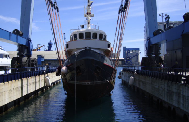 BULLY yacht currently under refit at Mondo Marine