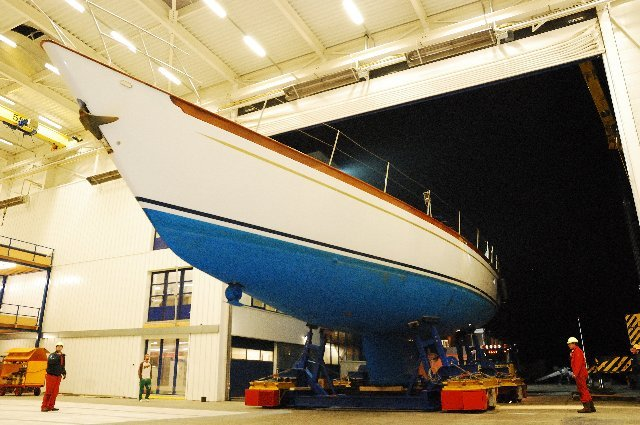 BooToo superyacht under refit at Holland Jachtbouw