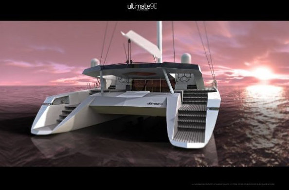 Catamaran yacht Sunreef 90 Ultimate - rear view